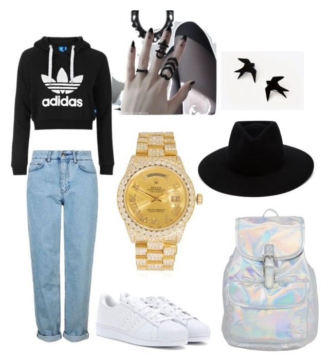"""""""maybe some changes will make no hurts ;)"""" by yangui-sarra on Polyvore featuring mode, Topshop, adidas, rag & bone et Rolex"""