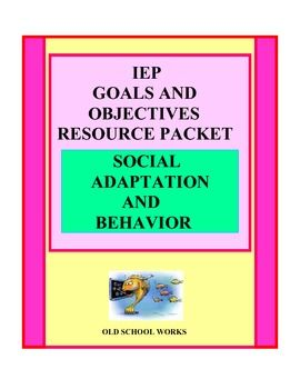 Proven simple system for timesaving.  If you are frustrated with  rewriting goals and objectives, and are looking for a product with a bank of IEP content, then this is for you. Contains over  110 possible goals and objectives.  Keep one copy at home and one at school. Additional information and the complete product description of an Old School product that Works for you!
