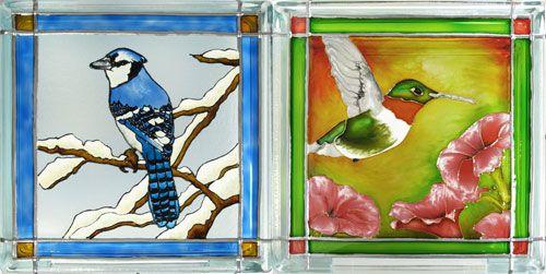 Faux vitrail paysage recherche google peinture pinterest for Faux vitrail sur miroir