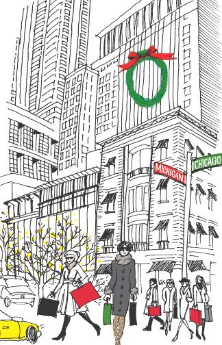 corner of Michigan & Chicago Avenues.  Inside: lyrics -- City sidewalks, busy sidewalks, dressed in holiday style, in the air there's a feeling of Christmas