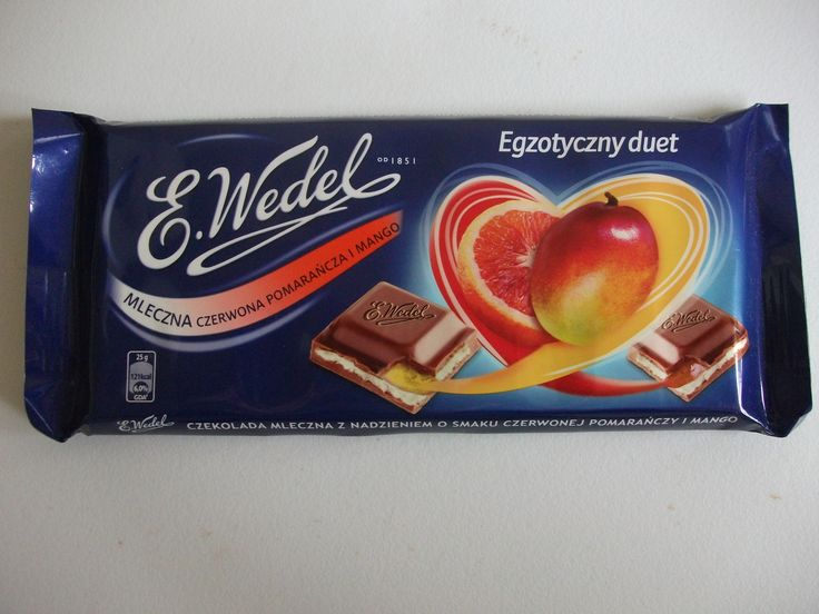 Wedel Mango & Orange chocolate bar