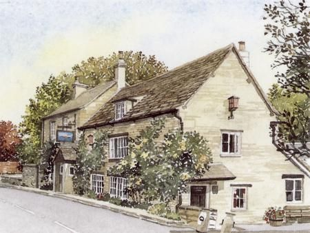 The Trout at Lechlade by Ann March, Ann March, Highworth Artists' Society Highworth Artists' Society, SAA Professional Members' Galleries