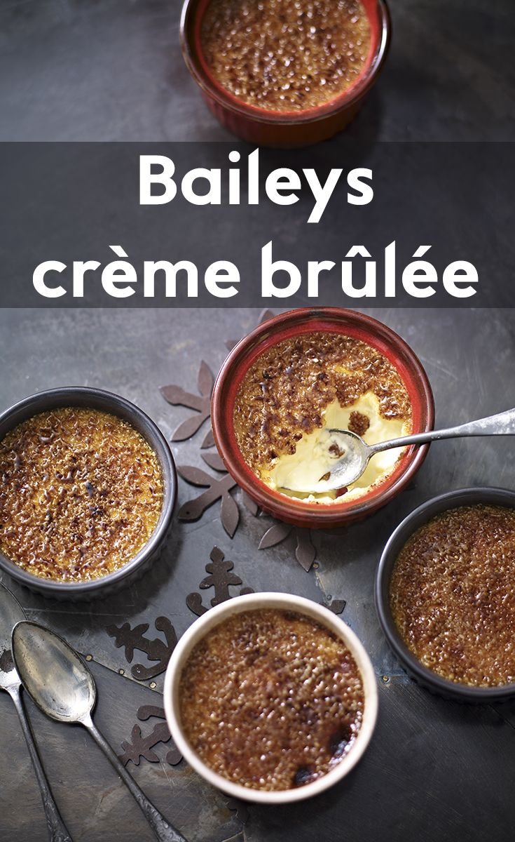 For an indulgent and decedent dessert, try our recipe for Bailey's crème brûlée. Friends and family will love them!