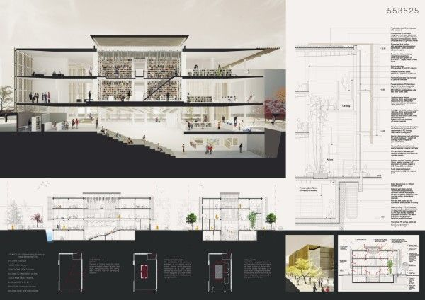 entry to Competition for Daegu Gosan Public Library by POC+P Architects