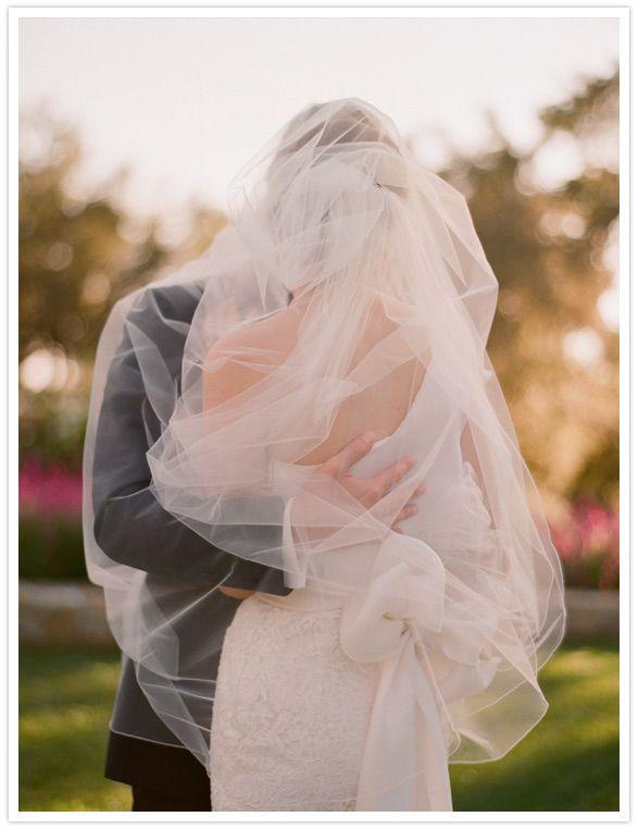 Ivory Tulle Wedding Veil #ivory #tulle #wedding #veil Image by Elizabeth Messina