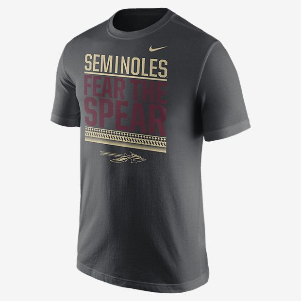 REPRESENT YOUR TEAM The Nike Local Verbiage (Florida State) Men's T-Shirt celebrates your favorite school with a local team statement on soft, comfortable cotton. Product Details Rib crew neck with interior taping Fabric: 100% cotton Machine wash Imported