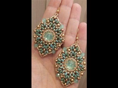 Orecchini Esmeralda (DIY - Esmeralda Earrings) - YouTube Beautiful earrings, really big though!