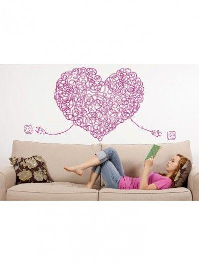 #Vinilo Corazon para #decorar tu #salon