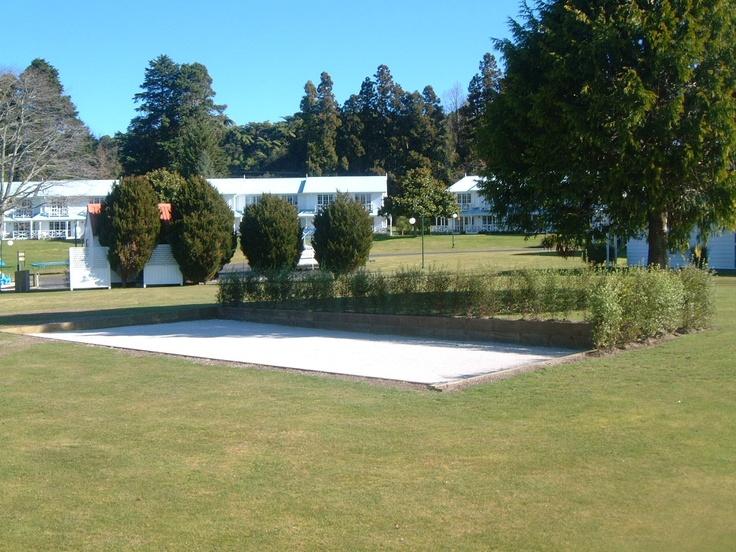 Petanque at Amora Lake Resort Okawa Bay, Rotorua  New Zealand