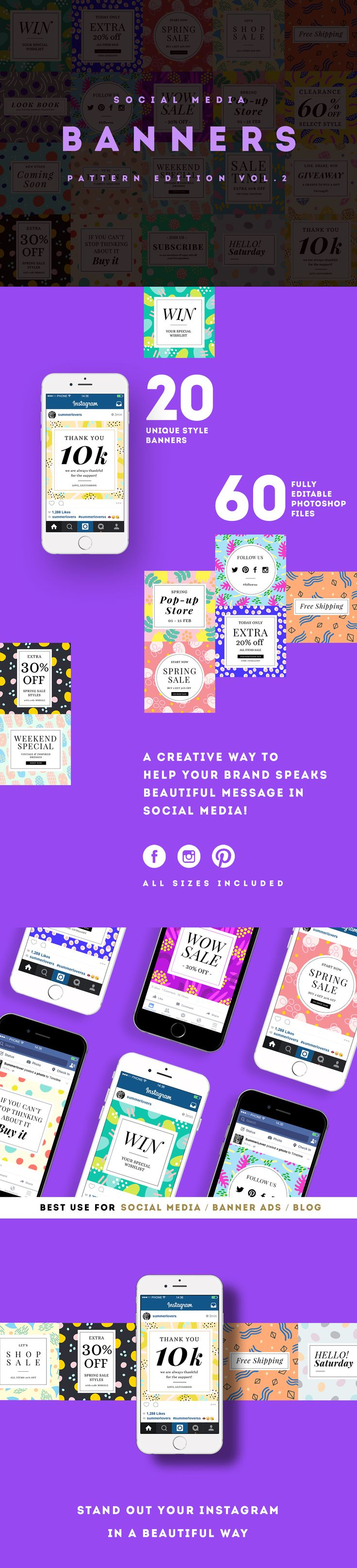 Social Media Banners Design Best for Instagram, Facebook &  Pinterest