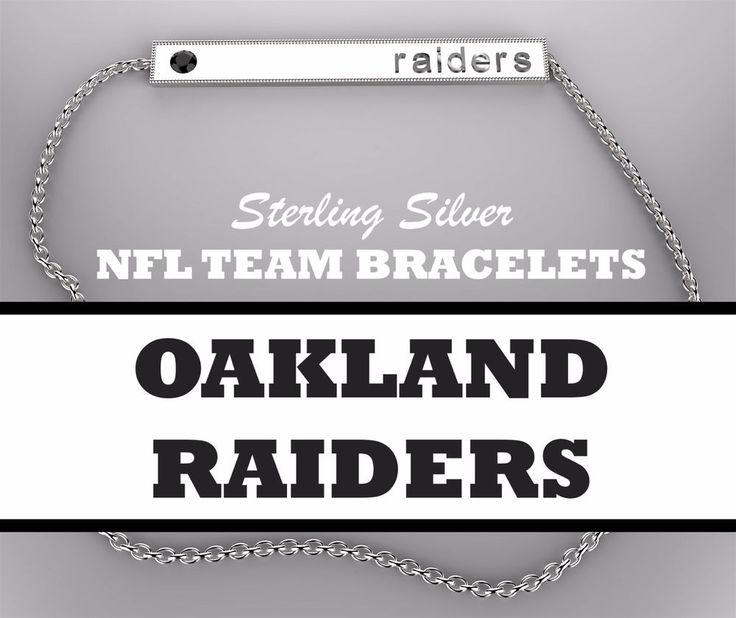OAKLAND RAIDERS Womens NFL Jewelry Gold Plated Silver Bar Bracelet w/ Black CZ #BarBracelet #OaklandRaiders #newyorkgiants #giants #newyork #newyorkjets #newyork #jets #oaklandraiders #raiders #oakland #philadelphiaeagles #eagles #philadelphia #philly #pittsburghsteelers #steelers #pittsburgh #sandiegochargers #chargers #sandiego #losangeles #lachargers #sanfrancisco49ers #49ers #sanfrancisco #seattleseahawks #seahawks #seattle #stlouisrams #rams #stlouis #losanglesrams #larams #la