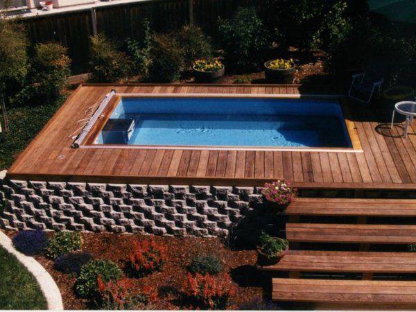 petite piscine hors sol, plan d'extérieur