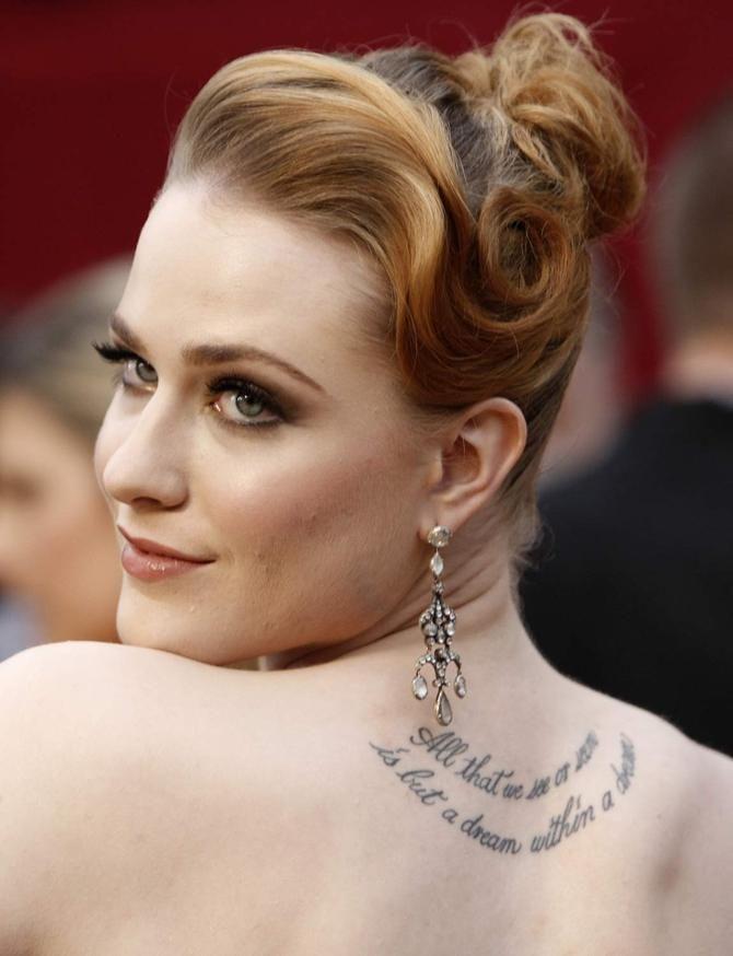 Evan Rachel Wood Sued | Tatuaggi da star: tra eccessi e opere d'arte