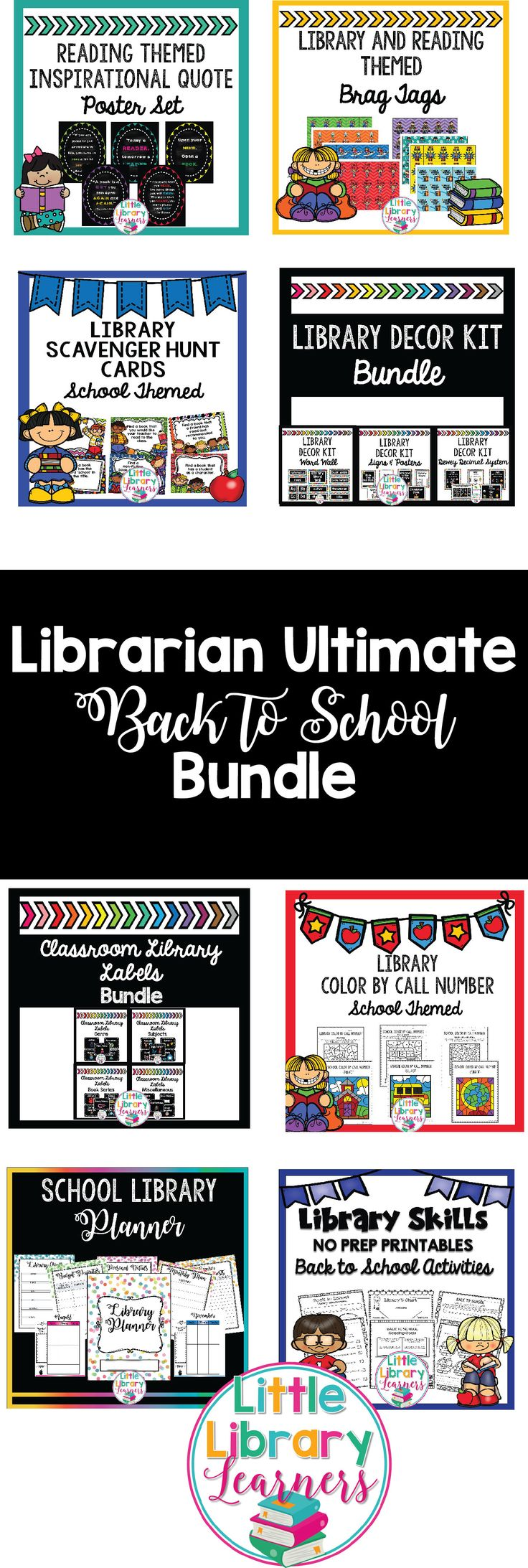 This Librarian Ultimate Back to School Bundle for the School Library is the perfect Library resource for the elementary Teacher Librarian. It includes resources to get you organized for the school year including a Library Planner, Back to School No Prep Printables, Posters, Labels, Activities and much, much more!