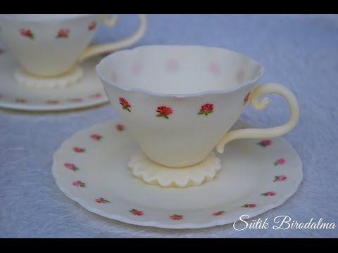 Fondant teáscsésze / How to make fondant teacup - YouTube