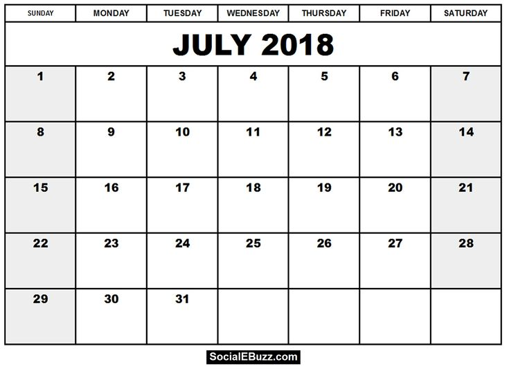 Best July  Calendar Images On   Calendar
