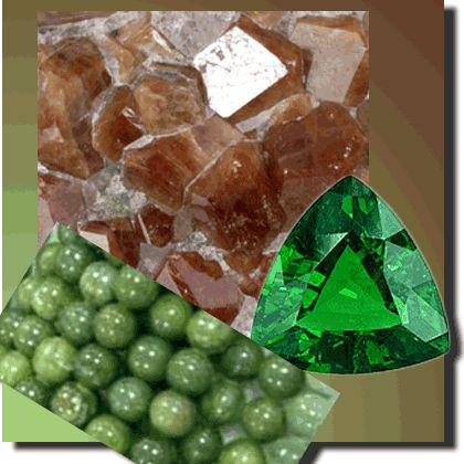 Grossular Garnet-  hope, empowerment, and all things nurturing from Mother Earth. In shades as varied as a magnificent sunrise, to the lush and verdant greens of growth and renewal, it is a stone of prosperity and abundance; encouraging gratitude and service to others.