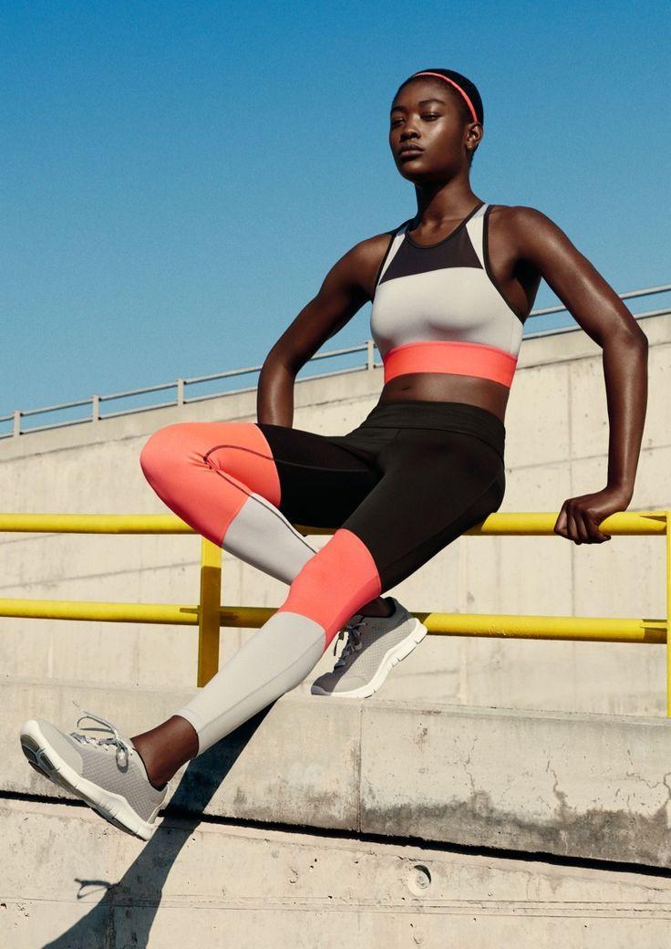 Linha de primavera da H & M Sport inclui leggings em execução, sutiãs esportivos, tanques e mais.
