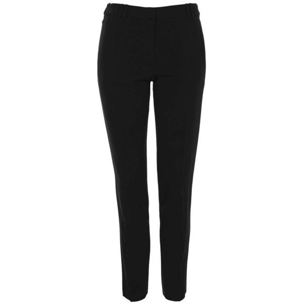 Women's Topshop 'Cora' Cigarette Pants (£28) ❤ liked on Polyvore featuring pants, high-waisted pants, cigarette trousers, high waisted cigarette trousers, high-waist trousers and highwaist pants