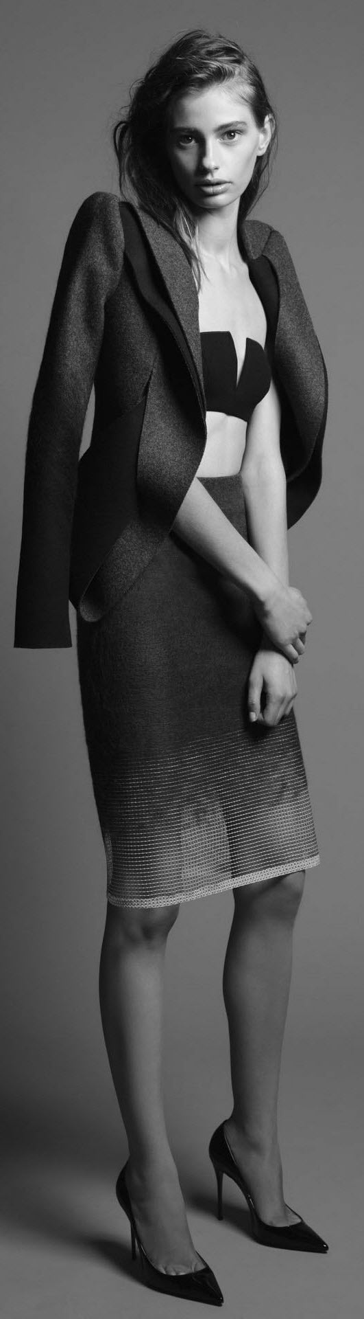 Dion Lee's Woolmark Collection 2013.