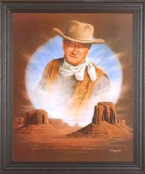 The Duke Stuart Coffield John Wayne Art Print Framed