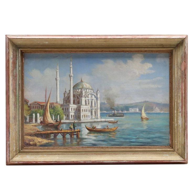 Ro Cheriff Ortaköy Mosque Istanbul Oil Painting