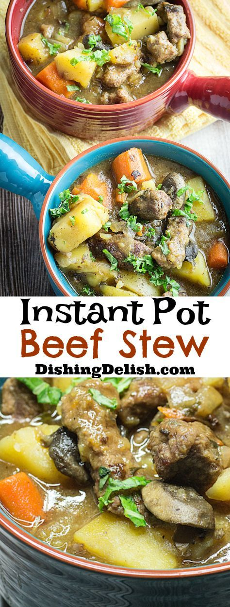 Instant Pot Beef Stew is an easy instant pot recipe that tasted like it came from a slow cooker! #instantpot #pressurecooker #gluten free
