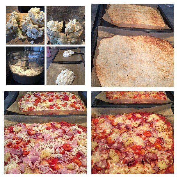 Blomkålspizza till middag! Så enkelt och gott, 525 kcal och jag äter hela själv😎 #receptpåblogg #flexibledieting #iifym #fitfam #följplanen