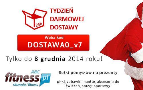 Dzień Darmowej Dostawy organizowany co roku 2 grudnia cieszy się coraz większą popularnością. Dlatego w ABCfitness przedłużyliśmy akcję do Tygodnia Darmowej Dostawy :) http://www.abcfitness.pl/p/tydzien-darmowej-dostawy/