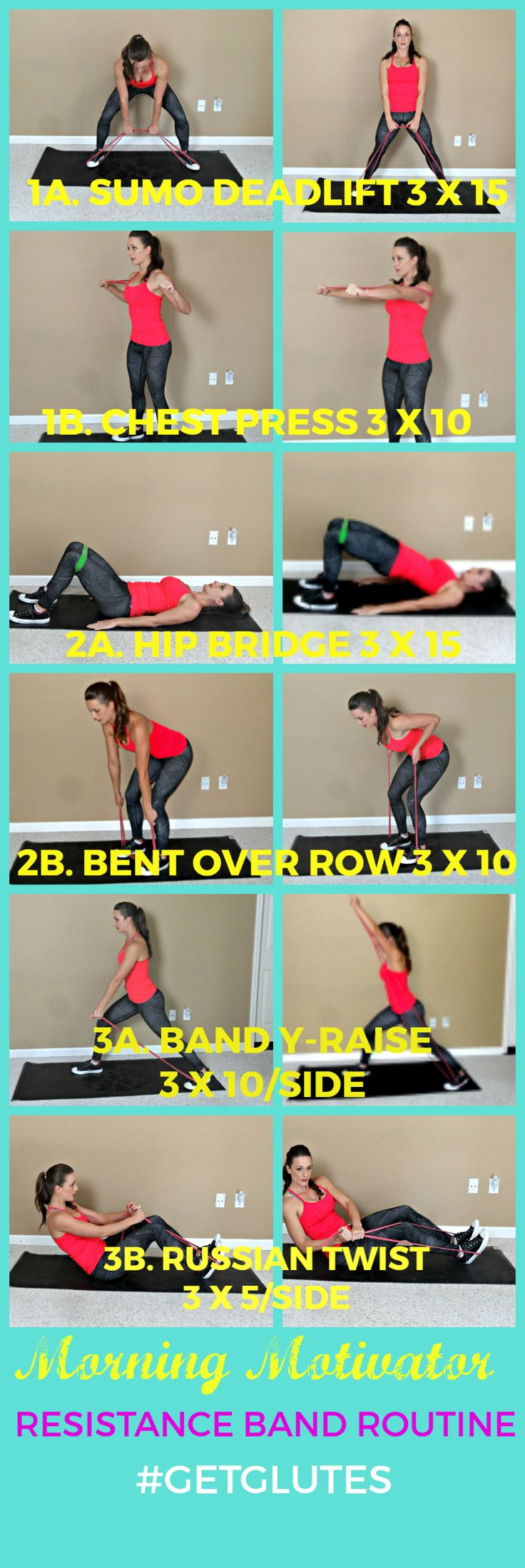 RISE AND SHINE! Need a little morning pick-me-up? Try this awesome Morning Motivator Band Exercise Routine. Share if this looks like a great way to start your day! (coffee somewhat optional) ;) #g (Mma Workout)