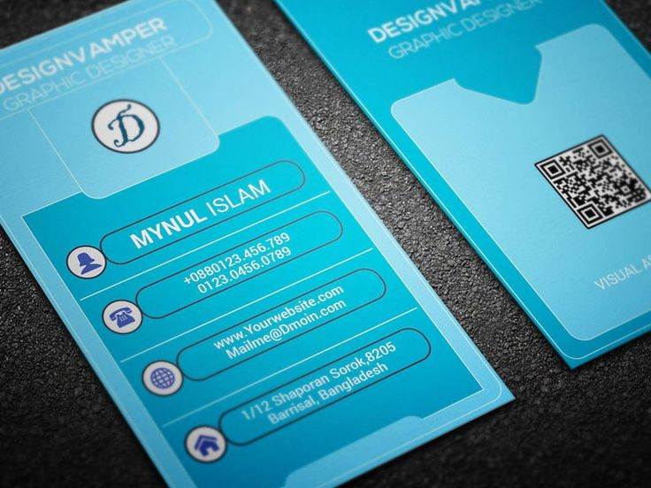 Clean Business Card Template For Designer