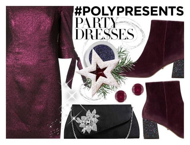 """""""Party Dress"""" by ana3blue on Polyvore featuring Milly, MANGO, Blend Minerals and Miadora"""