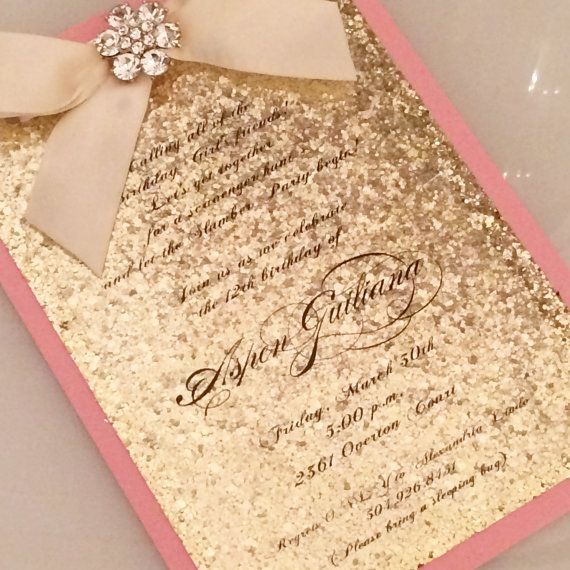 Glitter Invitation for ANY event by AspenCollectionbyAL on Etsy keep clam birthday wedding mitzvah baptism christening babyshower baby shower birth announcement party crown rhinestone girl lilac lavender balloons balloon princess rhinestones pink glitter sparkle sparkly polka dots silver gold bow
