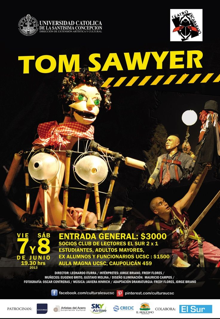 "Afiche Obra de Teatro ""Tom Sawyer"""
