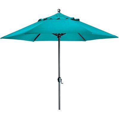 Tropitone Portofino 8.5' Market Umbrella Fabric: Sparkling Water, Frame Finish: Parchment