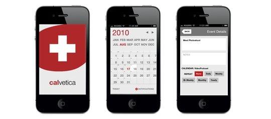calvetica calendar #app minimal design