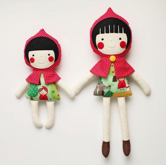 Big & little sister rag dolls. Handmade cloth dolls for by blita