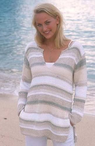 Ravelry: 78-7 Pullover in Bomull-Lin, Paris, Passion and Cotton Viscose pattern by DROPS design