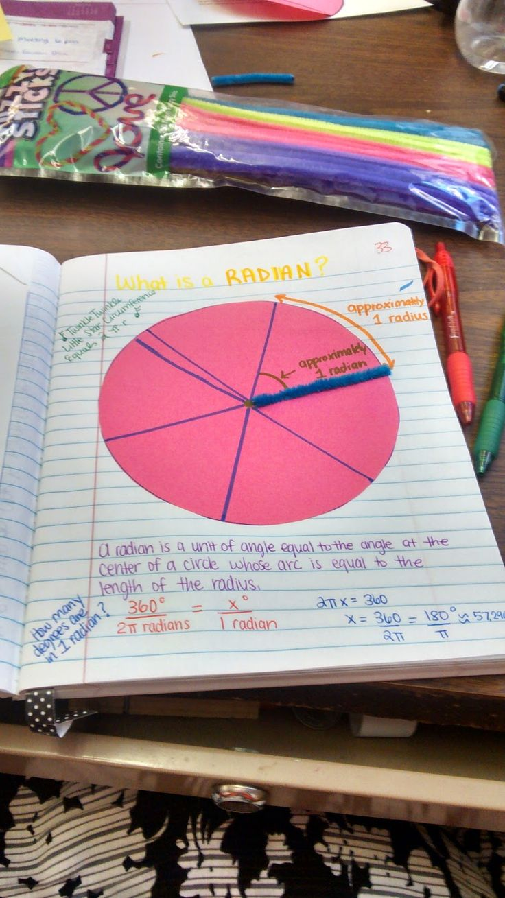Math = Love: Trigonometry Unit 2 Interactive Notebook Pages