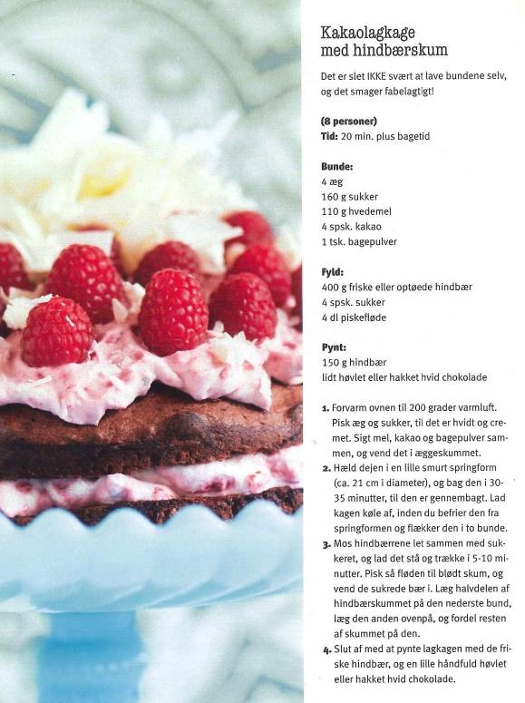 lagkage med hindbærskum (kombiner med den med flødebolle-laget)
