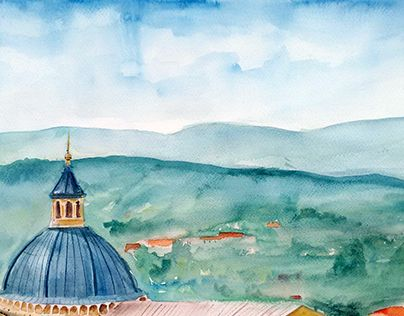 """Check out new work on my @Behance portfolio: """"Watercolor - Siena"""" http://be.net/gallery/34893957/Watercolor-Siena"""