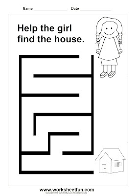 b27 mazes simple free printable mazes ablls r b visual performance pinterest maze. Black Bedroom Furniture Sets. Home Design Ideas