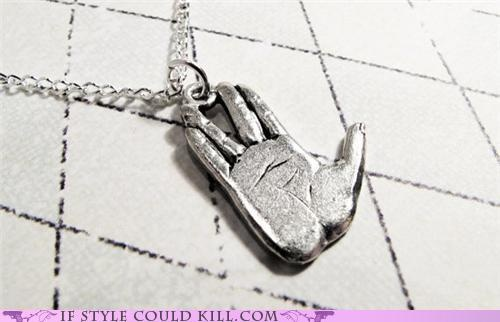 Live long and prosperous. Vulcan necklace.