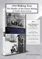 1916 Walking Tour – The Battles of the Easter Rising at Dublin Book Festival - The Collins Press: Irish Book Publisher