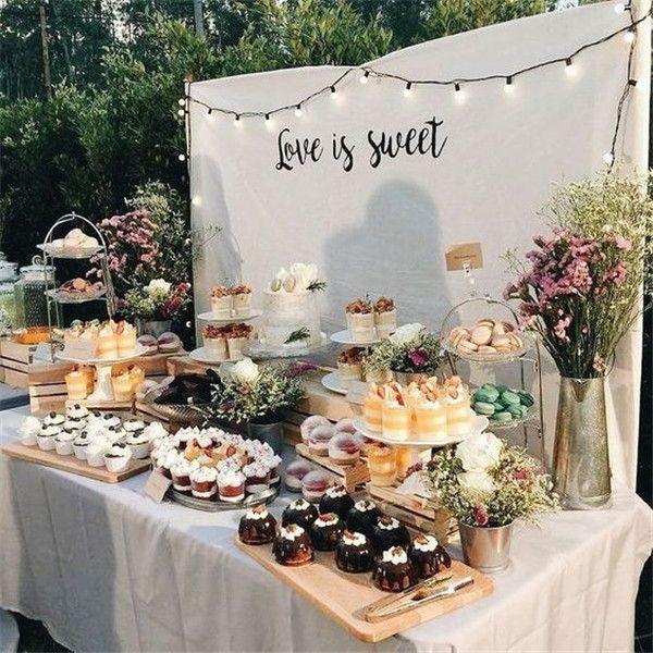 50 Awesome Wedding Dessert Bar Ideas To Rock Weddinginclude In 2020 Wedding Dessert Table Decor Dessert Display Wedding Dessert Table Decor