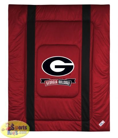 Georgia bulldogs bedding ncaa sidelines comforter for Georgia bulldog bedroom ideas