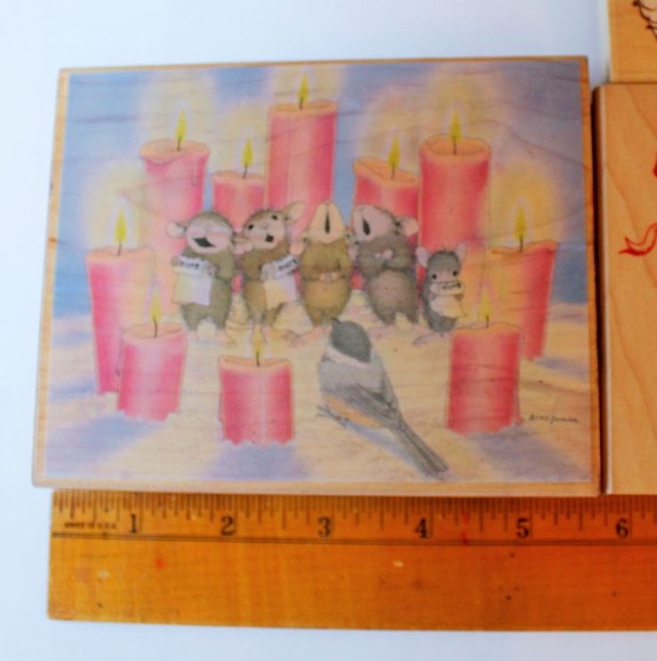 House Mouse Stamp, Candlelight Chorus, Amanda, Maxwell, Mudpie, Muzzy & friend, rare stamp, highly collectible , by AssemblageSupply on Etsy