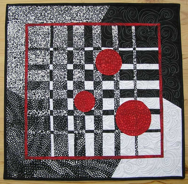 Modern quilt with dots