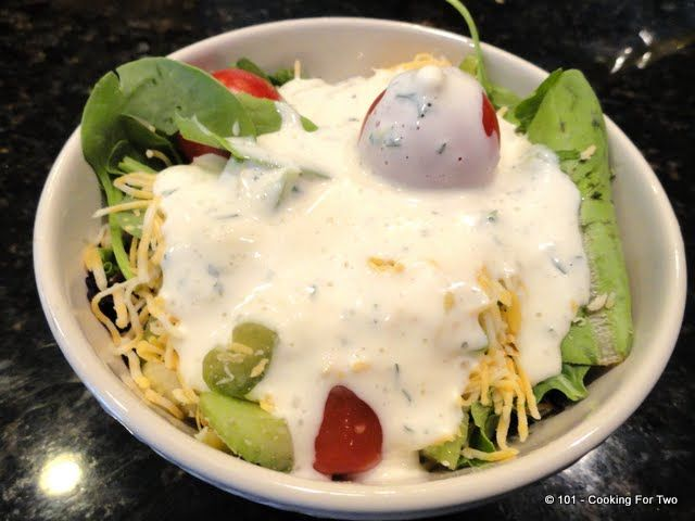 Simple Homemade Buttermilk Ranch Dressing. Added a bit more garlic, a ...