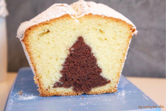 Marmorkuchen mit Tannenbaum - süße Idee für Weihnachten <3